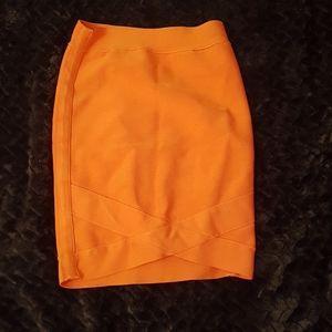 Marciano coral bandage skirt